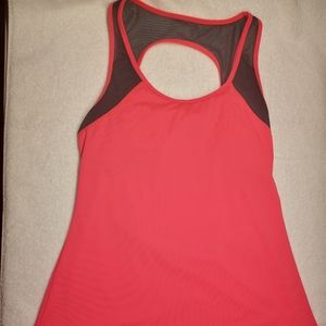 Fabletics - Pink and Black Gulf Open Back Tank Top